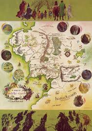 a map of middle earth pauline baynes a map of middle earth