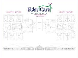 floor plans for assisted living facilities floor plan and site plan for elder care cottages waterford wi