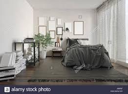 Schlafzimmer Bilderrahmen Luxus Loft Schlafzimmer Vollgestopft Mit Büchern Von Mauer Und