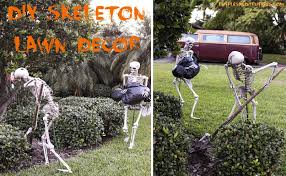 home lawn decoration diy skeleton lawn decor for halloween home design garden