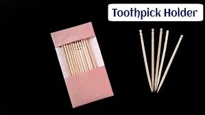 Pocket Toothpick Holder How To Make A Easy And Simple Paper