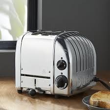 Dualit Toaster Timer Switch Dualit Newgen 2 Slice Chrome Toaster Crate And Barrel