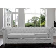 Tufted Chesterfield Sofa by Tribecca Home Knightsbridge Tufted Scroll Arm Chesterfield Sofa