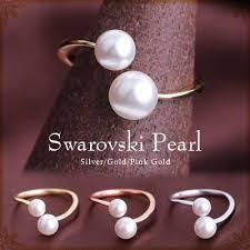 all swarovski rings images Roryxtyle rakuten global market cute swarovski pearl rings jpg