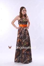 camo and orange wedding dresses strapless lace up camo wedding dresses for sale buy from