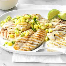 cuisine salsa grilled tilapia with pineapple salsa recipe taste of home