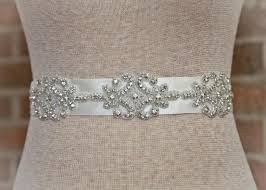bridal sash beaded rhinestone bridal sash laurel