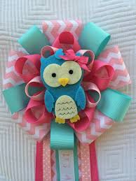 pink baby shower owl corsage its a corsage blue owl baby