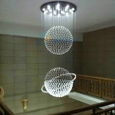 7 bulbs crystal pendant light led modern lights hanging lamp globe