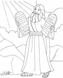 other moses coloring pages and the ten commandments moses