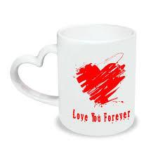 Heart Shaped Mugs Couples Heart Handle Mug Valentine U0027s Heart Handle Mug Heart