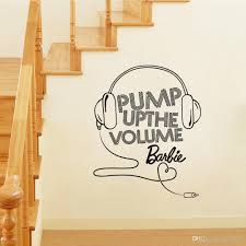 pump up volume music headset wall stickers sitting room children see larger image