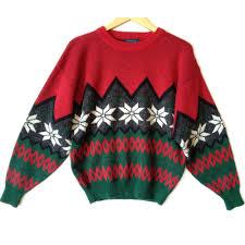vintage 90s nordic snowflake men u0027s ski ugly christmas sweater
