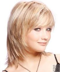 shag hairstyle for fine hair and round face medium straight casual hairstyle with side swept bangs light