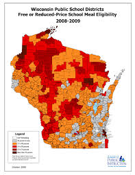 Wisconsin On Map by Changes In Free And Reduced Meal Eligibility 2003 2014