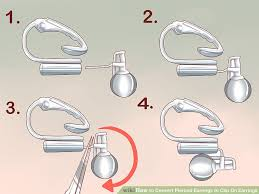 how to convert clip on earrings to pierced earrings 3 ways to convert pierced earrings to clip on earrings wikihow