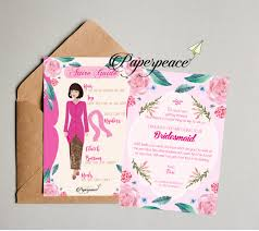 bridesmaid invitations template paperpeace bridesmaid card with javanese and green themes for ms