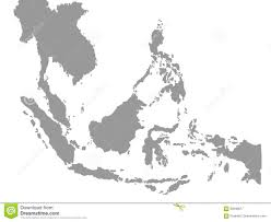 Map East Asia by South East Asia Map In White Background Stock Illustration Image