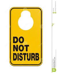 door knob hangers do not disturb royalty free stock image