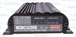 redarc bcdc1225d dual battery isolator system dc to dc mppt solar