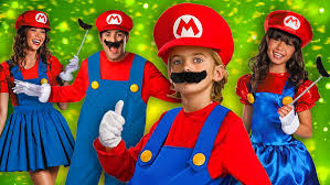 Mario Costumes Halloween Super Mario Brothers Costumes Group U0026 Couples Costumes