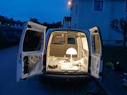 Camper Van Interior Lights This Is A Video Of Me Buiding An Office Camper Van In 20 Days I