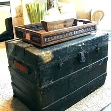 trunk coffee table diy vintage trunk coffee table home design