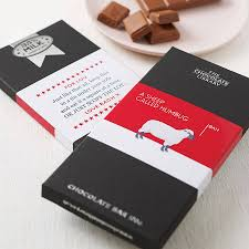 personalised funny christmas chocolate bars by quirky gift library