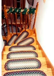 Stair Rug Stair Charming Country Stair Design With Oak Treads And Capsule