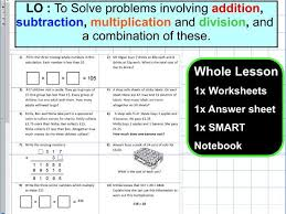 primary maths calculations with four operations tes