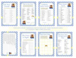 noah u0027s ark baby shower game printable noah baby game