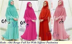 Baju Muslim Grosir grosir baju muslim oki maxy set with siffone pashmina pabrik
