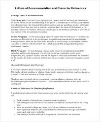 employment character reference letter letter of character