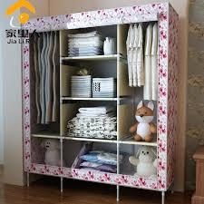 wardrobes finether single canvas wardrobe closet clothes rail