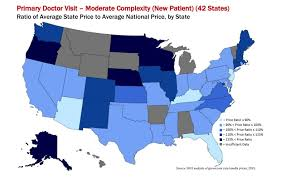 A Map Of The Us U S Health Care Prices Are All Over The Map New Study Finds