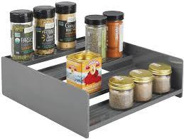 kitchen food storage cupboard mdesign plastic kitchen spice bottle rack holder food storage organizer for cabinet cupboard pantry shelf holds spices jars baking
