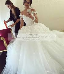 luxury wedding dresses dress 3d flowers gown wedding dresses sleeve wedding