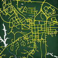 Uark Campus Map William U0026 Mary The College Of Campus Map Art City Prints