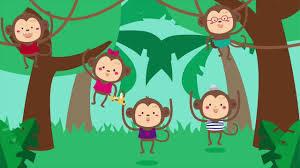 five little monkeys swinging in a tree song for kids fun songs