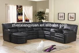 gorgeous black leather reclining sectional sofa sectional
