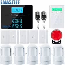 gsm alarm system lcd android ios app touch keypad android iso app smart home burglar alarm