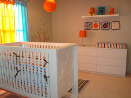 interior orange baby room decor kids cute decorating themes for