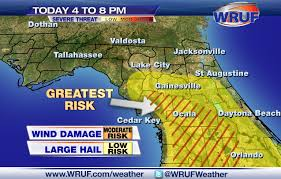 Map Of Ocala Fl Storms Storms Possible This Evening Near Gainesville And Ocala