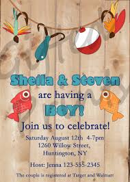 fishing themed baby shower baby shower invitation fishing theme
