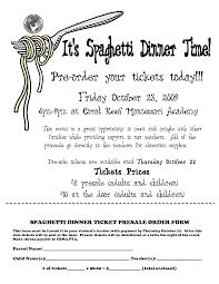 dinner order form template spaghetti dinner ticket template spaghetti dinner ticket presale