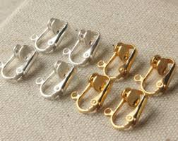 how to convert clip on earrings to pierced earrings clip ons etsy