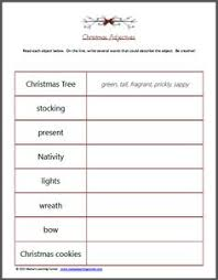christmas add an adjective worksheet for 2nd and 3rd grade an