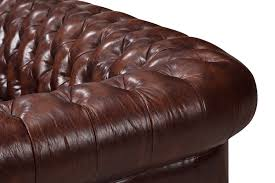 Brown Leather Loveseat The Original Chesterfield Loveseat Rose And Moore