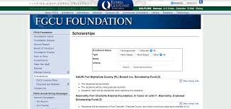 fgcu foundation scholarship applications open