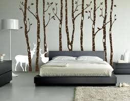 birch tree winter forest set vinyl wall decal 1161 brown birch tree forest decal with snow and